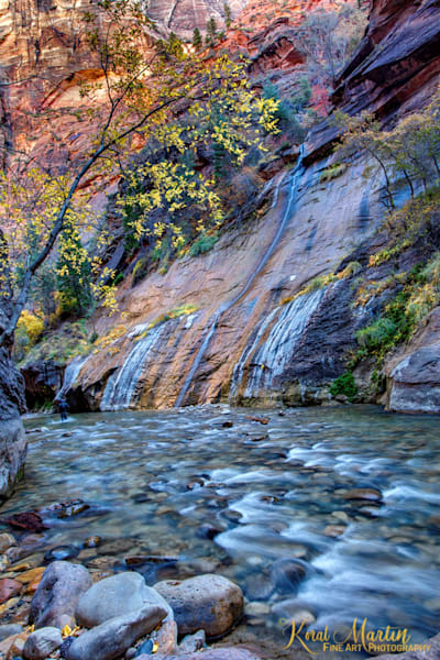 Zion Narrows Waterfall Photograph 2804| Zion Narrows | Zion National Park | Canyon Photography | Koral Martin Fine Art Photography