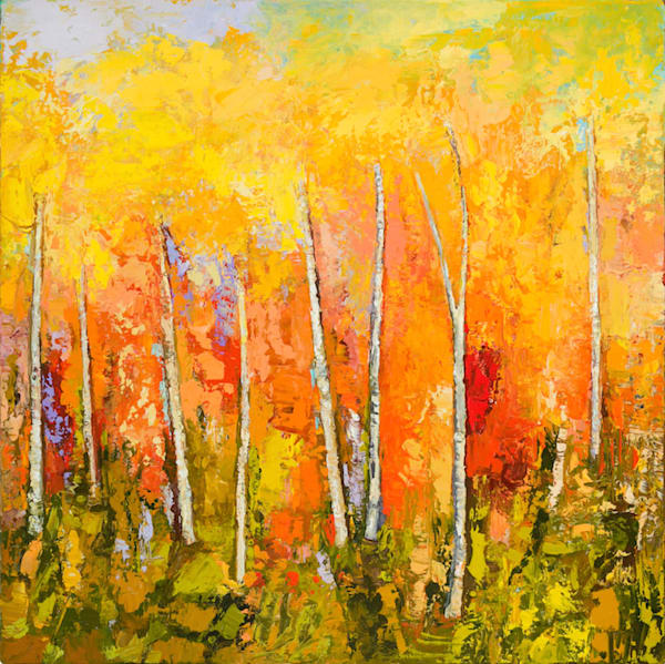 Abstract landscape painting commission by tracy lynn pristas autumn pirouette jznrfv