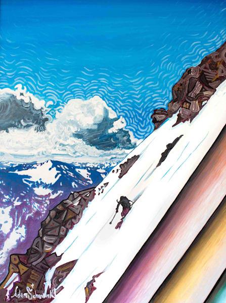 Sky Skier Art | Adam Schwankl