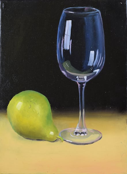 Glass and Pear