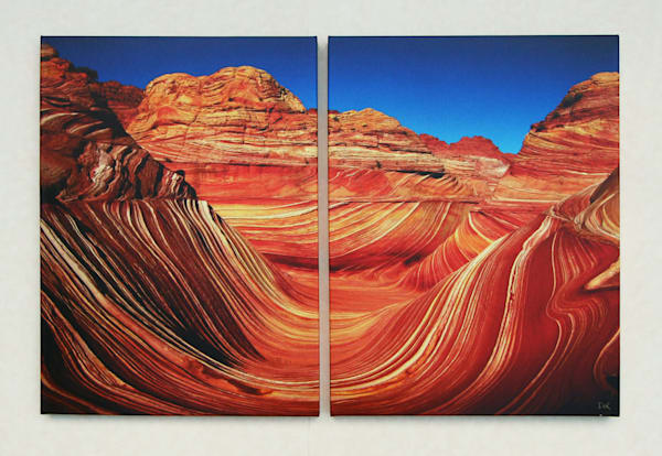 """The Wave"" - Regular Diptych"