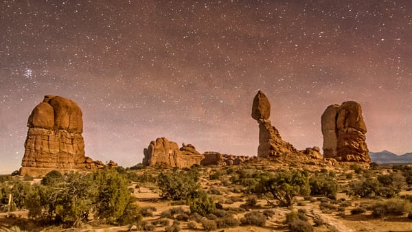 Arches Balanced Rock Stars Art | Michael Blanchard Inspirational Photography - Crossroads Gallery