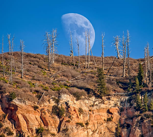 Kolob Canyon Moon Art | Michael Blanchard Inspirational Photography - Crossroads Gallery