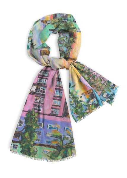 Rainbow Row Cotton Scarf | Fer Caggiano Art