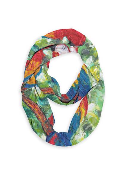 Parrotdise Infinity Eco Scarf   Fer Caggiano Art