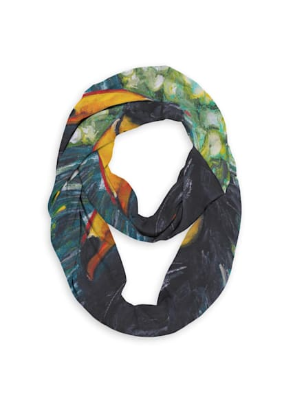 Toucan Infinity Eco Scarf   Fer Caggiano Art