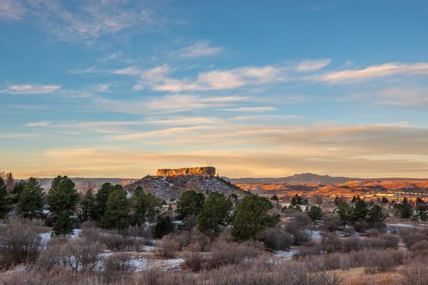 Photo of Castle Rock Colorado on a Tranquil Fall Morning - Prints for Sale