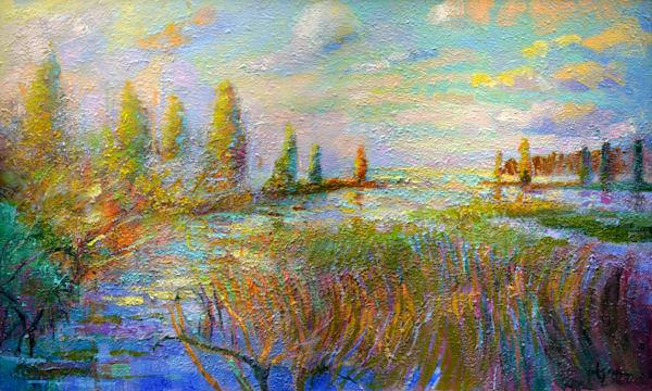 Chesapeake Bay Landscape Painting, Fine Art Print by Dorothy Fagan