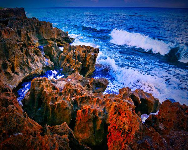 Waves Crash at Refuge