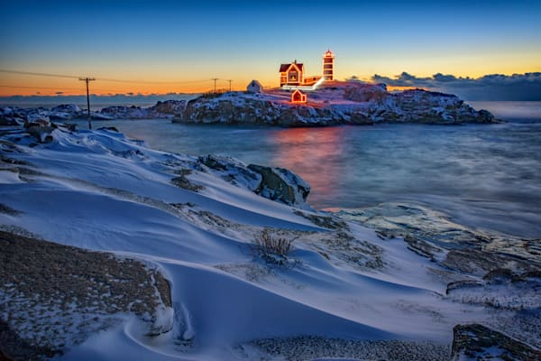 Winter Morning at Cape Neddick | Shop Photography by Rick Berk
