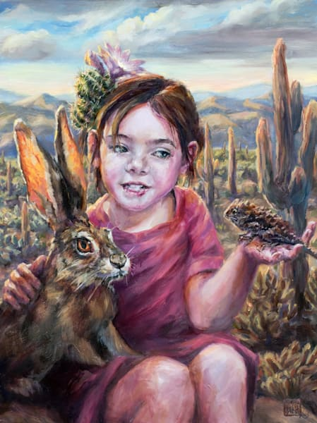 Desert Besties, art prints of the oil painting by Ans Taylor