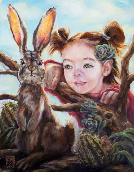 Bunny Ears, oil painting by Ans Taylor