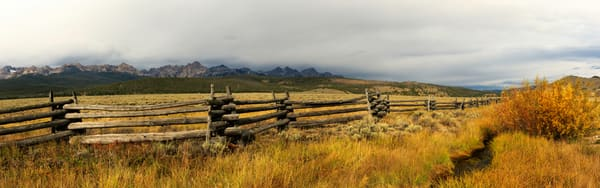 Sawtooth Fence Photography Art   Mallory Winters Photography