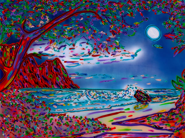 Night Sky Over Paradise | Beach Art | JD Shultz Art
