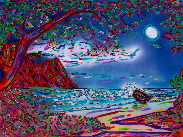 Night Sky Over Paradise | Beach Art | JD Shultz Art