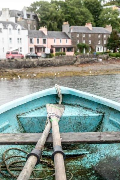 Turquoise Boat Art | AngsanaSeeds Photography