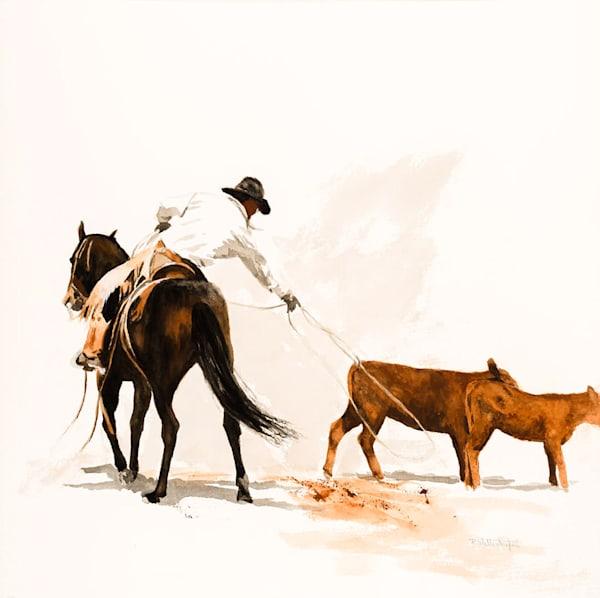 "Raymond Wattenhofer Gouache Art Painting ""Caught? Maybe"""