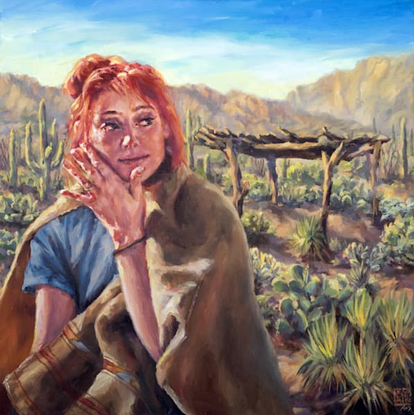 Step Outside, Sonoran Desert oil painting and prints by Ans Taylor