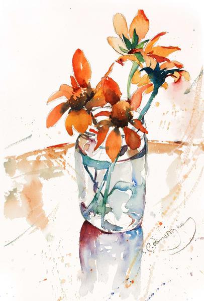 Susan's Mexican Sunflowers Art | Patrick Dominguez Art