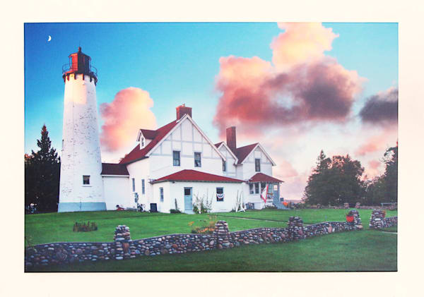 """Port Iroquois Lighthouse Sunset"" - Gallery Wrap"