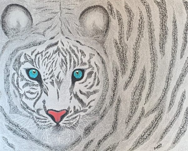 White Tiger Art | thecalliart
