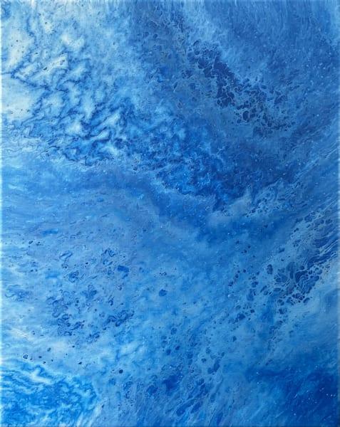 Sky Splitting fluid acrylic painting