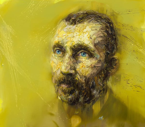 Vincent Van Gogh In Yellow (Oil On Print) Art | Mathieu Laca
