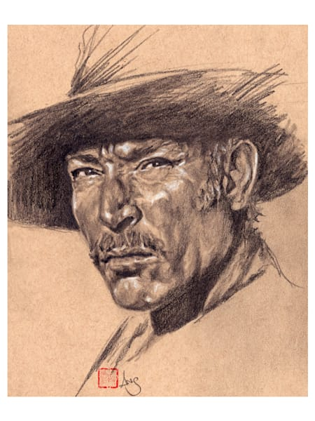 Lee Van Cleef, drawing by Ans Taylor