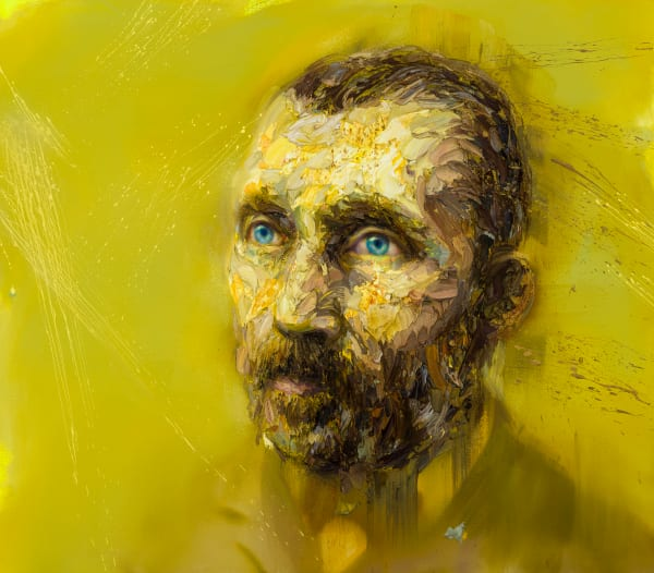 Vincent Van Gogh In Yellow Art | Mathieu Laca