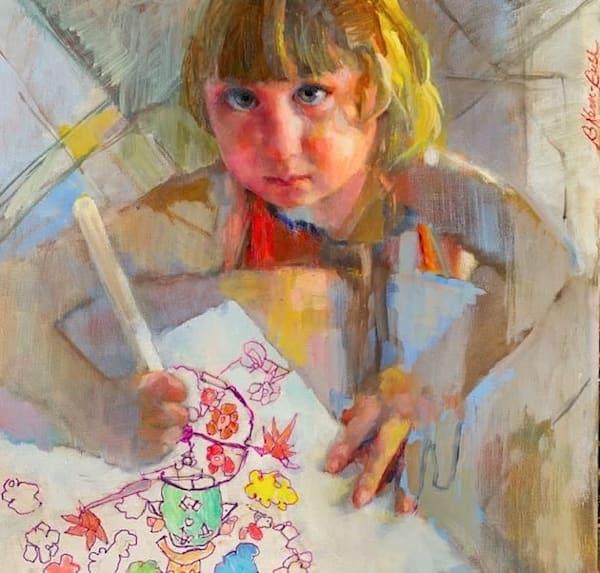 First Portrait Art   Bkern Fine Art