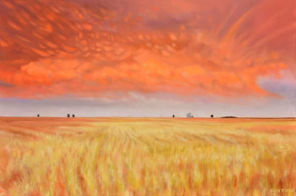 Mammatus Cloud Oil painting