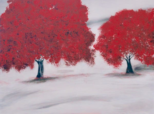 Red Trees Art | Marie Art Gallery