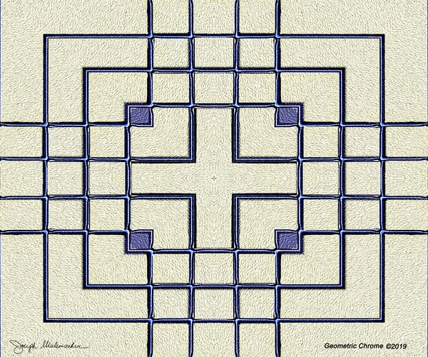 Geometric Chrome - The Gallery Wrap Store