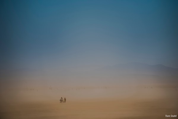 Leaving a dust storm, 2016.
