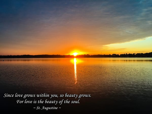 """""""Love is Beauty of the Soul"""" - St Augustine"""