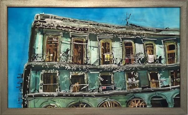 Wash Day: Havana Balconies Art by mcgilltropicalart.com