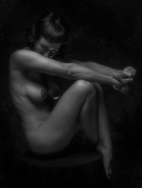 Olive Art Nude On Stool Photography Art | Dan Katz, Inc.