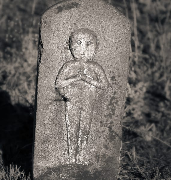 Wide Eyed Figure Hanakaoo Cemetery Maui Photography Art | Dan Katz, Inc.