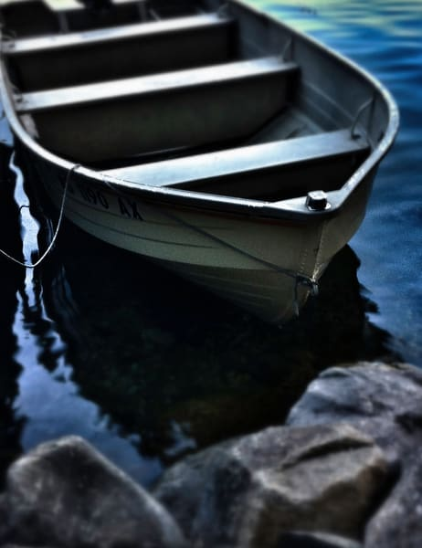 Rowboat On The Rocks Art | Mark Stall IMAGES