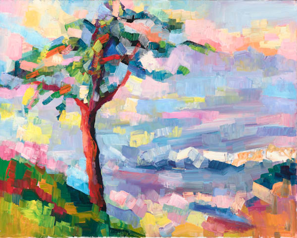 Tree At The Edge (Santa Cruz) Art   Sonnets in colour