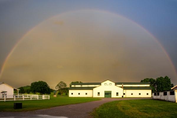 Summer Storm's Rainbow over Harlinsdale Farm