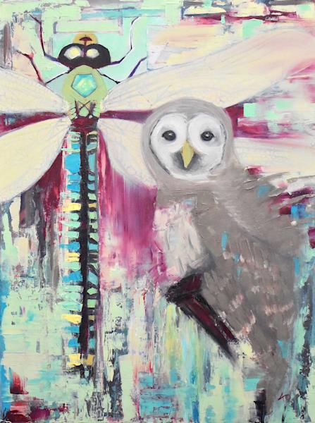 Owl & Dragonfly Art   Amy O'Hearn Art