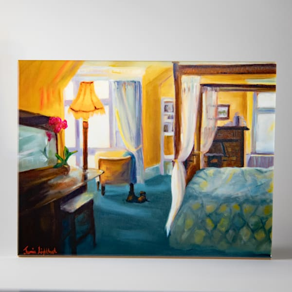 Decorative Tile,  Room with the Green Tile, Oil Painting by Jamie Lightfoot.