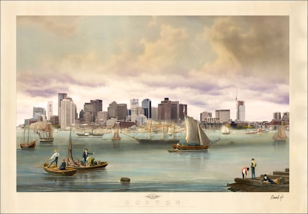 Boston (Harbor View) Photography Art by markhersch