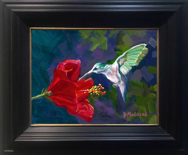 Hummingbird Show Mini Canvas | Southwest Art