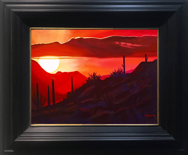 Howard's Sunset Small Framed Canvas
