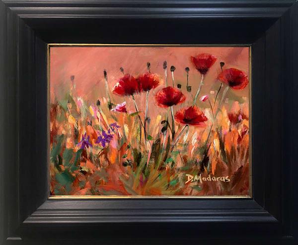 Poppies Framed Canvas Art