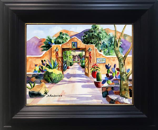 Hacienda Gate II Framed Mini Canvas