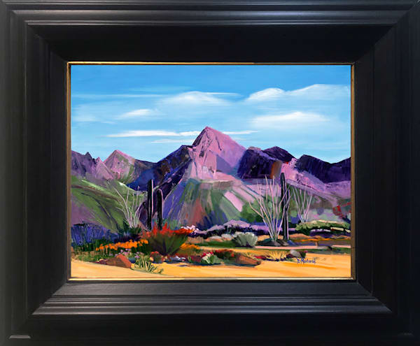 Pink Ocotillo at Pusch Ridge Framed Show Mini