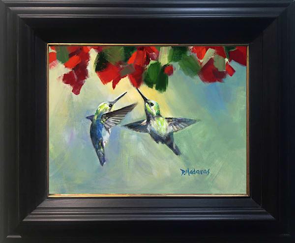 Two Hummingbirds Framed Wall Decor